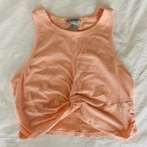 Forever 21 Coral Active Crop Top Tank Medium